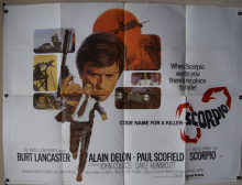 Scorpio (1973) Film Poster - UK Quad